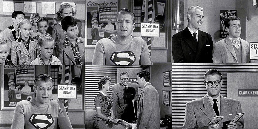 GEORGE REEVES IN STAMP DAY FOR SUPERMAN and I LOVE LUCY
